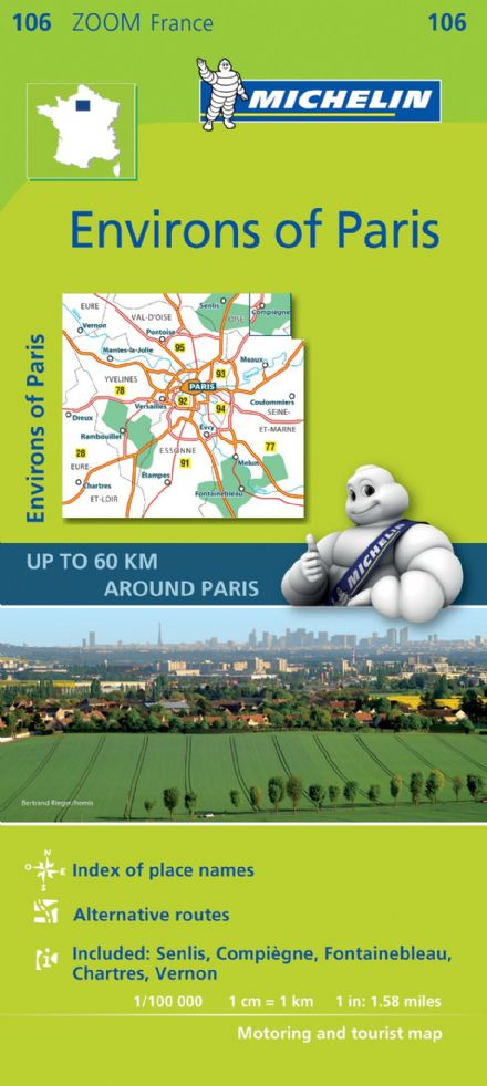 Michelin Map 106 Environs of Paris